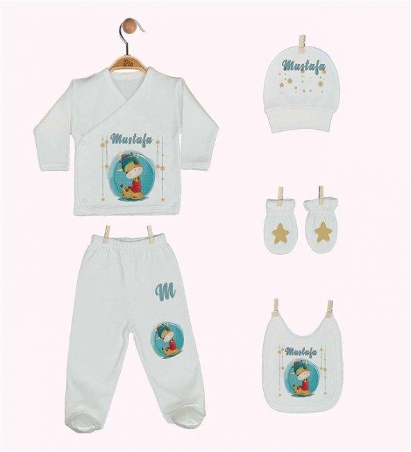 Pia Baby GL 1934-05 İsme Özel Beşli Zıbın Set