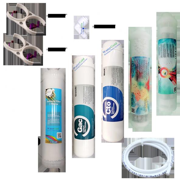 Su Arıtma Cihazı Ekonomik Filtre Takımı Yedek Parçalı Set