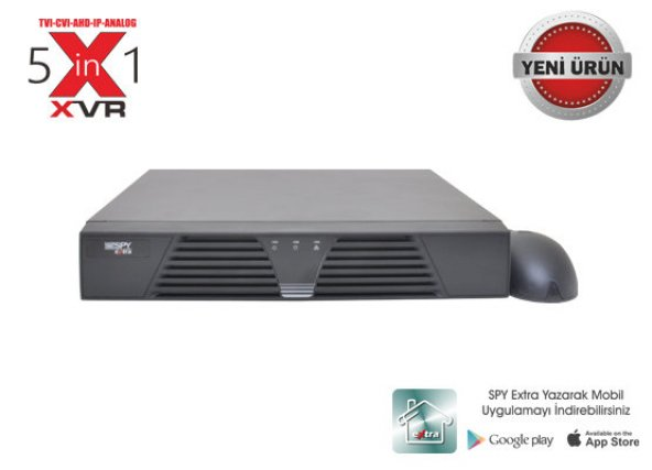 Spy SP-7208N-S1 XVR 8 Kanal  Akıllı XVR 1080P-H.264 1X6 TB Hdmi-Vga TVI+CVI+AHD+IP+Anolog