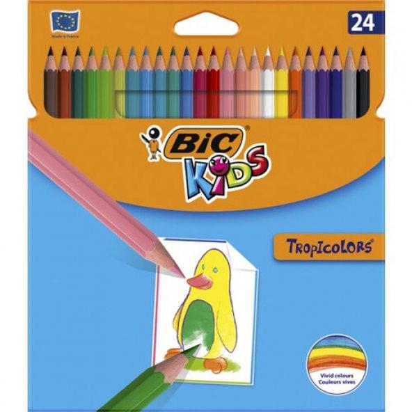 Bic 50/2235 Tropiclors Kuru Boya Kalemi 24 Renk