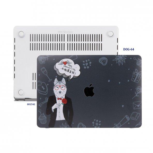 MacBook Air Kılıf Hard Case A1369 A1466 13 inç Uyumlu Özel Tasarım Özel Kutulu Dog 01NL