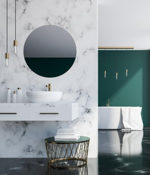Chic Life Altair Dekoratif Yuvarlak Füme Ayna 3 Farklı Büyüklükte
