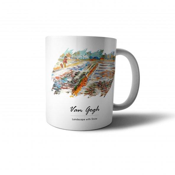 Van Gogh Landscape with Snow Baskılı Kupa Bardak - UNL035