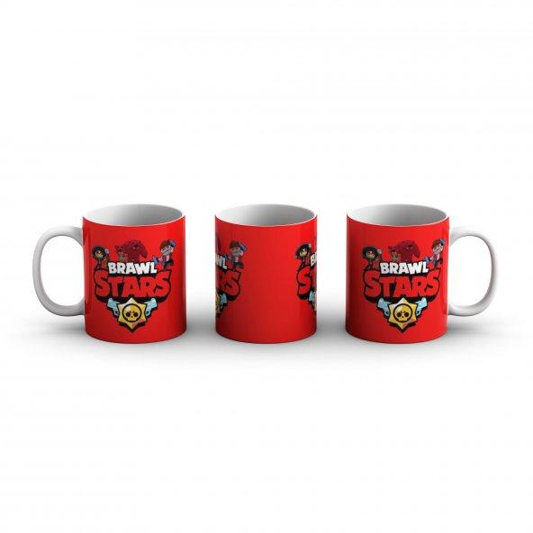Brawl Stars Kırmızı Jenerik Baskılı  Kupa Bardak - GAM020