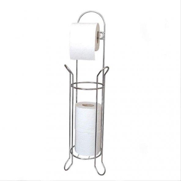 Ece Metal Lüx Paslanmaz Krom Yedekli WC Kağıtlık