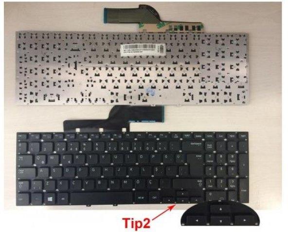 Samsung NP550P5C-S02TR Notebook Klavye (Siyah TR)