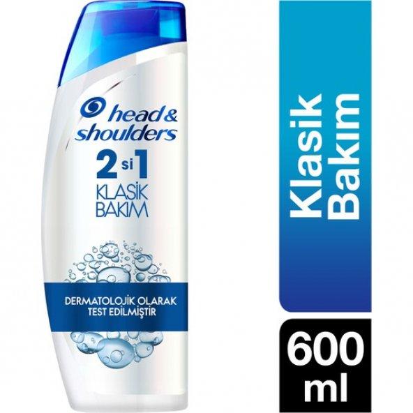 Head & Shoulders 2'si 1 Arada Şampuan Klasik Bakım 600 ml