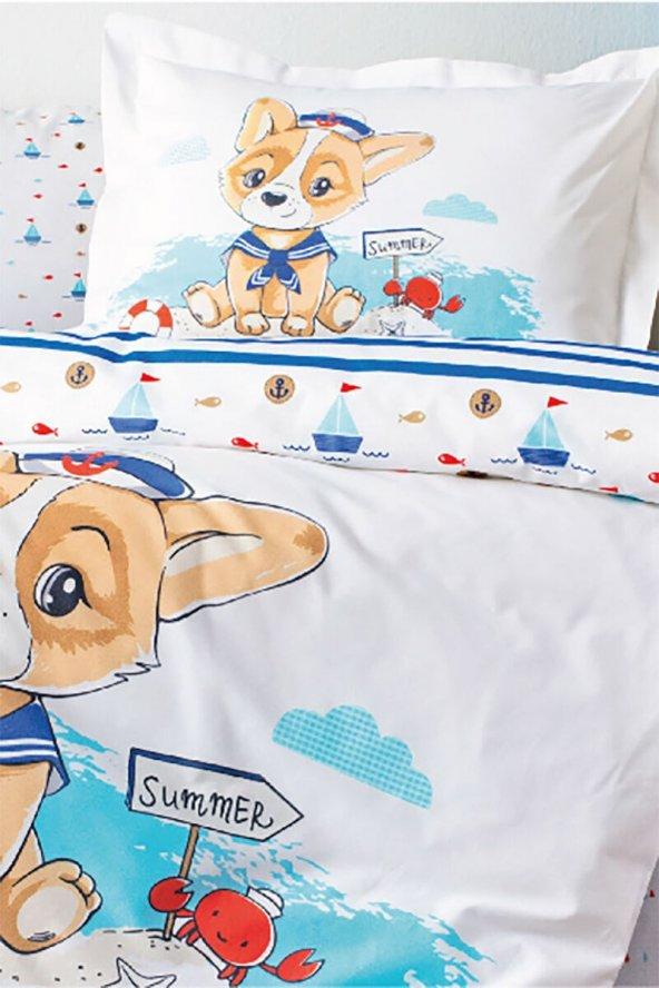Özdilek Happy Summer  Bebek Nevresim Takımı Mavi