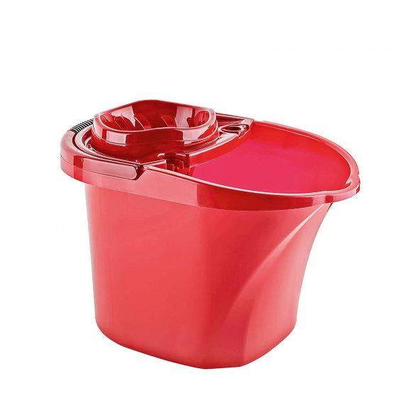 Titiz Practica Temizlik Seti Kovası / Sıkma Aparatlı / 15 Litre / Kırmızı