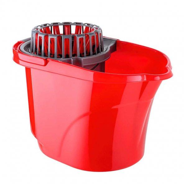 Titiz Cameon Temizlik Seti Kovası / Sıkma Aparatlı / 16 Litre / Kırmızı