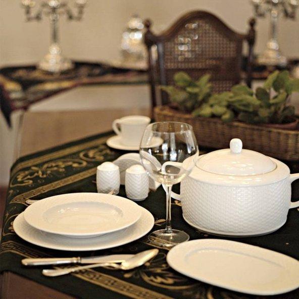 Kütahya porselen 12 kişilik yemek takımı polo 83 prç.yemek takımı seti