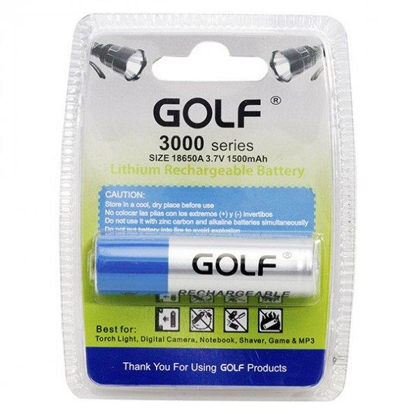 Golf 18650A 3.7 V 1500 mAh Başlıklı Lityum Pil 661097