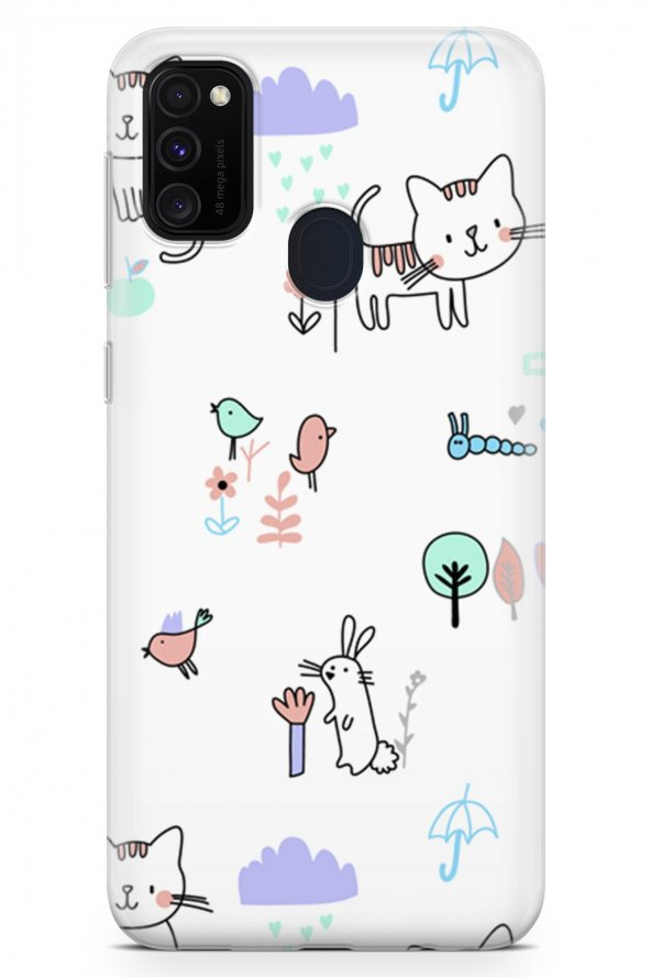 Samsung Galaxy M30s Kılıf Kitty Serisi Brianna