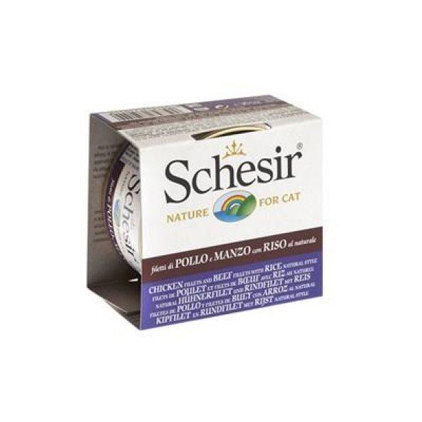 Schesir Tavuklu Sığırlı Pirinçli Kedi Konservesi 85 Gr