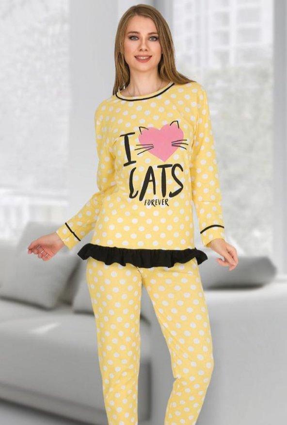 Bayan Pijama Takımı 02355