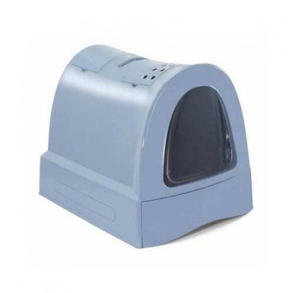 İmac Zuma Kapalı Kedi Tuvalet Kabı - Mavi