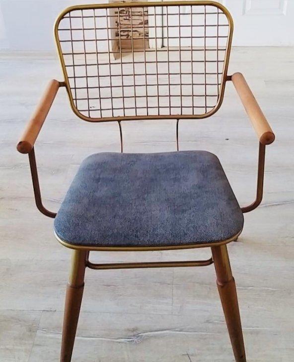 Bengi Zlf Tel Sandalye Metal Transmisyon Mat Gold  Renk