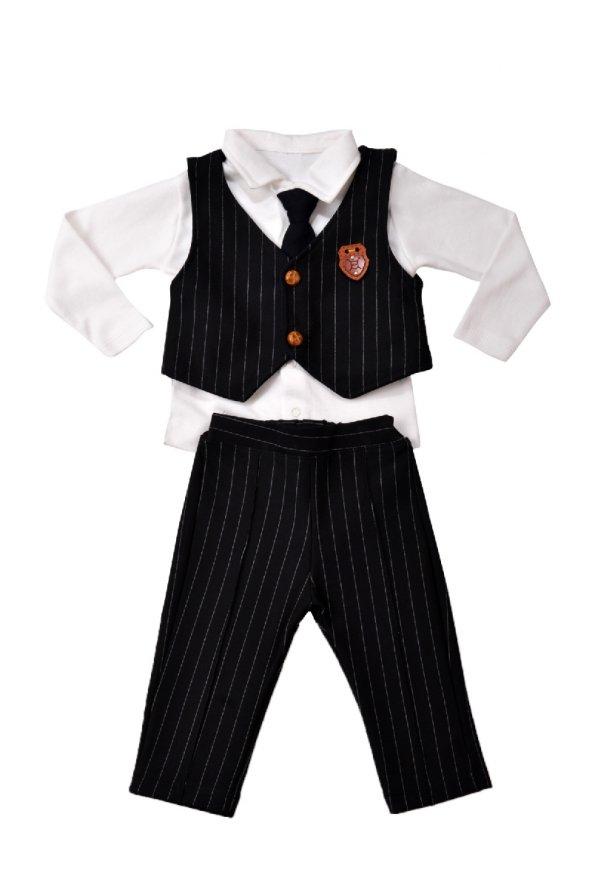 Teqne Bebek Yelekli Kravatlı Takım Elbise