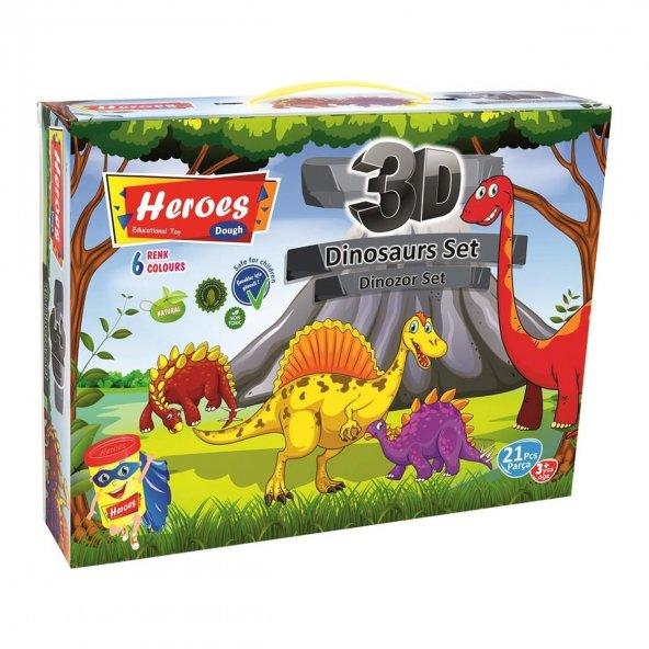 3D Dinozor Oyun Hamuru Seti