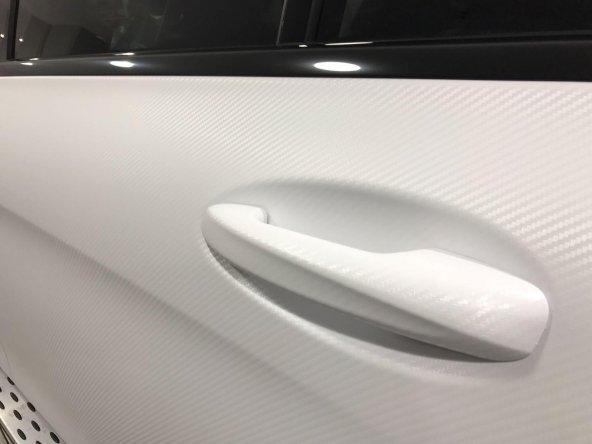 Hava Kanallı 3D Beyaz Karbon Folyo 152cmx1mt