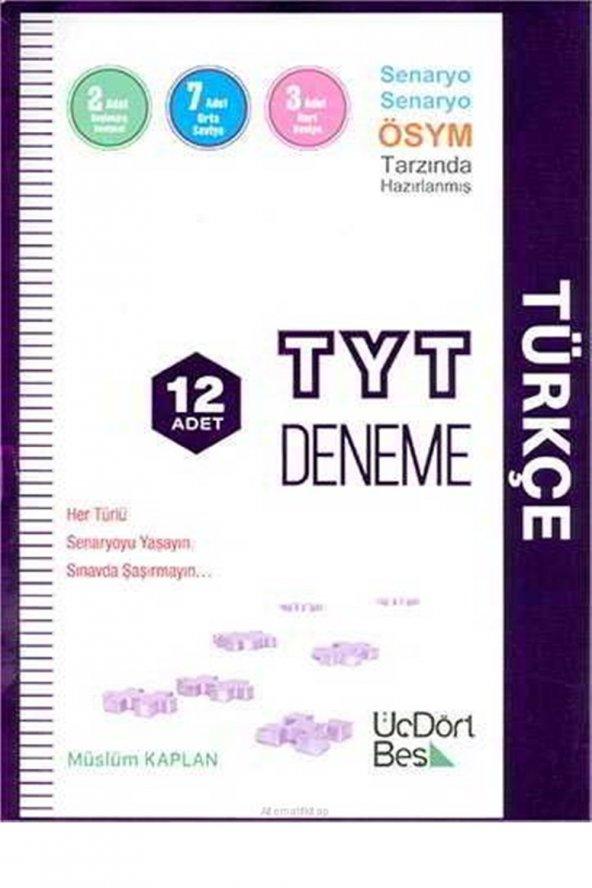 ÜÇDÖRTBEŞ / TYT TÜRKÇE 12 DENEME