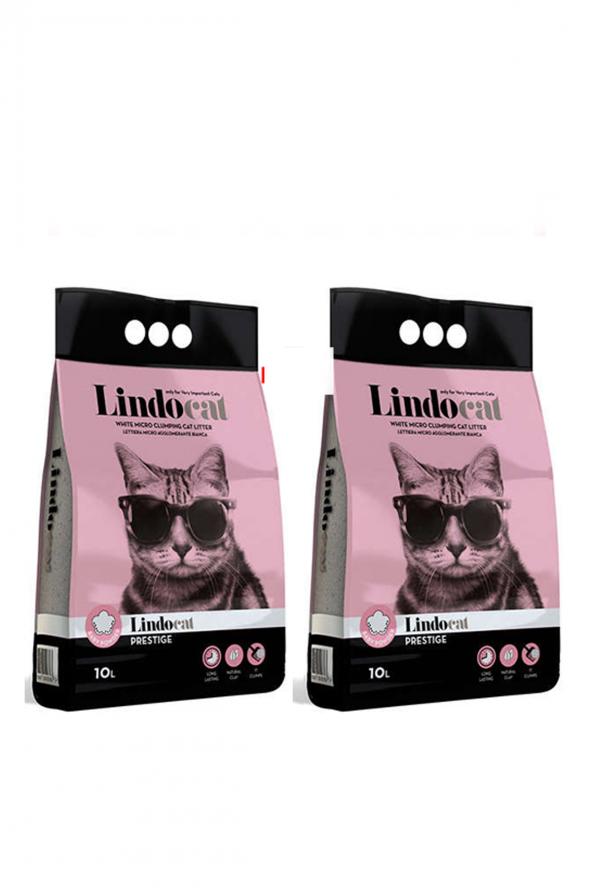 Lindo Cat Baby Powder Kalın Taneli Kedi Kumu 10 LT X 2 ADET
