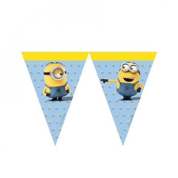 Minions Lisanslı Üçgen Bayrak Afiş