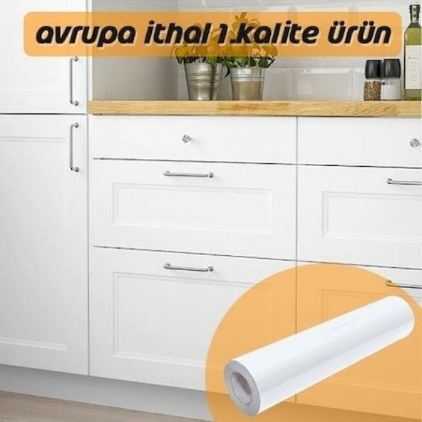 Mat Beyaz Folyo 105cmx6mt Yapışkanlı Kaplama Folyosu