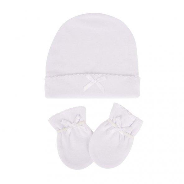 Sevi Bebe 99 Şapka Eldiven Takımı - Beyaz