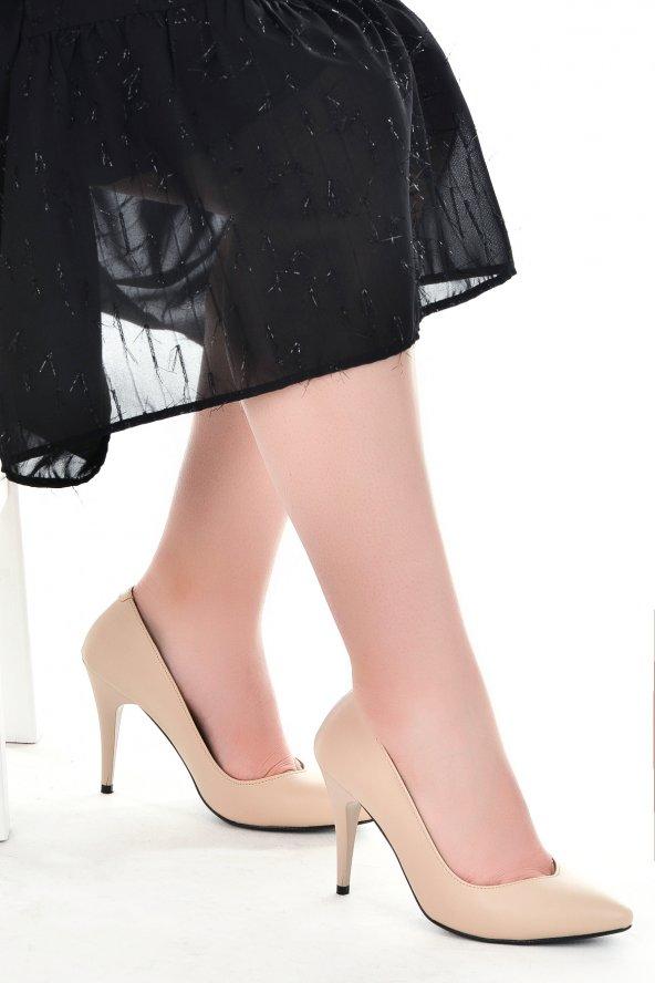 Ayakland 1943-72 Cilt 11 Cm Topuk Bayan Stiletto Ayakkabı TEN