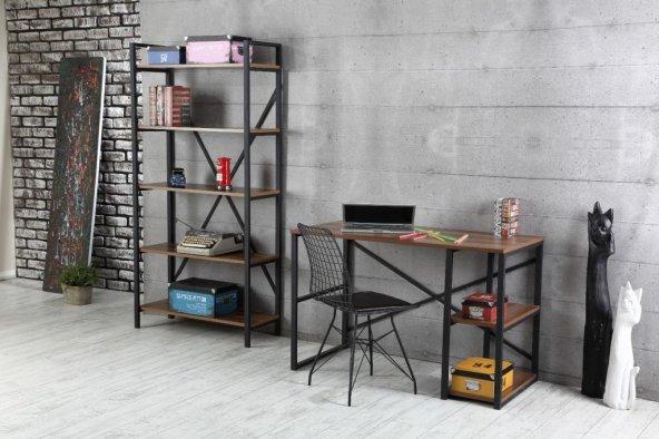 Hayal Metal Kitaplık, Tel Sandalye, Çalışma Masası Takımı