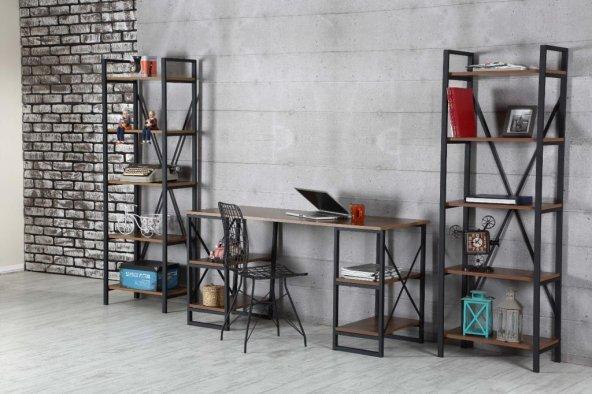 Işıl Metal Kitaplık, Tel Sandalye ve Çalışma Masası Takımı