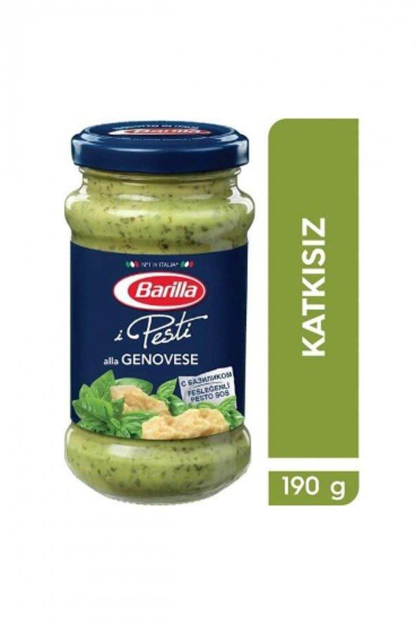 Barilla Fesleğenli Pesto Genovese Katkısız Makarna Sosu 190 Gr