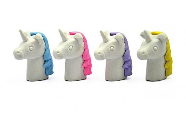 3D Silgi Unicorn Başı Silgi