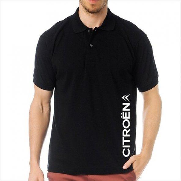 T-Shirt Polo Siyah SlimFit - Citroen