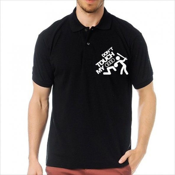 T-Shirt Polo Siyah SlimFit - Dont Touch My Audi