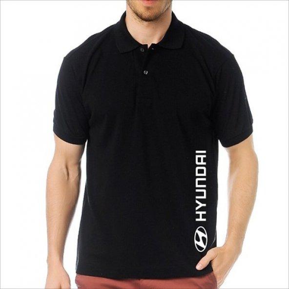 T-Shirt Polo Siyah SlimFit - Hyundai