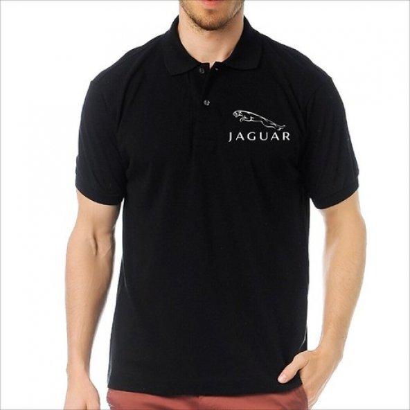 T-Shirt Polo Siyah SlimFit - Jaguar