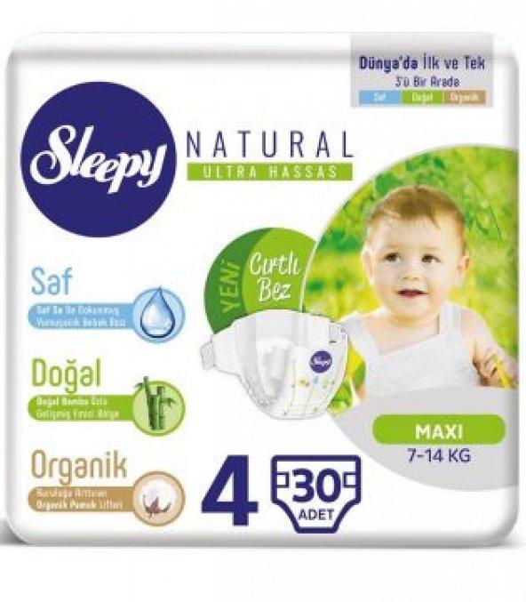 Sleepy Bebek Bezi Natural 4 Maxi Jumbo 30 Adet