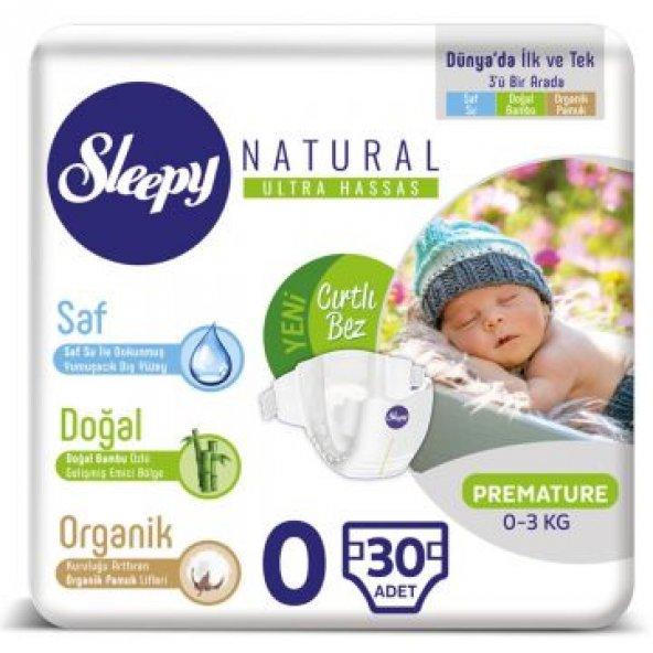 Sleepy Natural 0 Prematüre 30 Adet Bebek Bezi