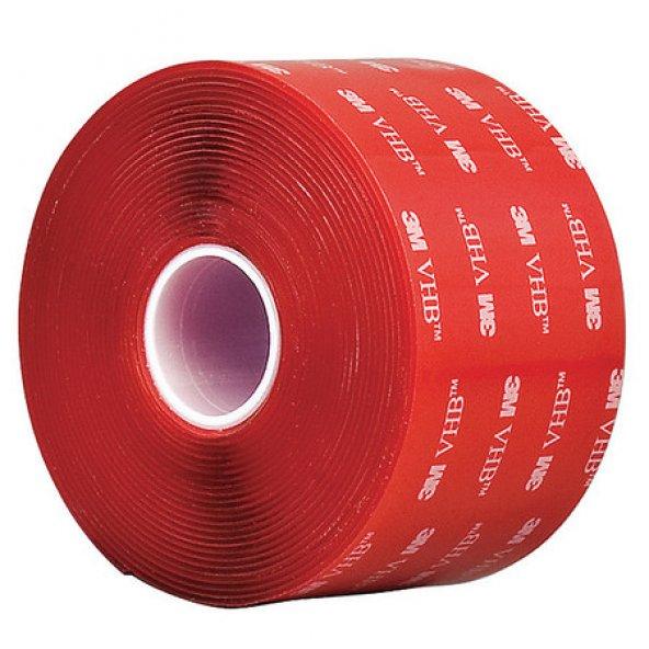 3M 4910F VHB 50mmx33m Şeffaf Renk Çift Taraflı Bant, Montaj Bandı 1mm