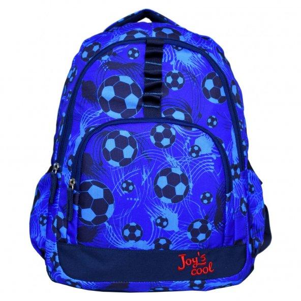 Joy's Cool Futbol Baskılı Erkek Çocuk Okul Sırt Çantası Mavi