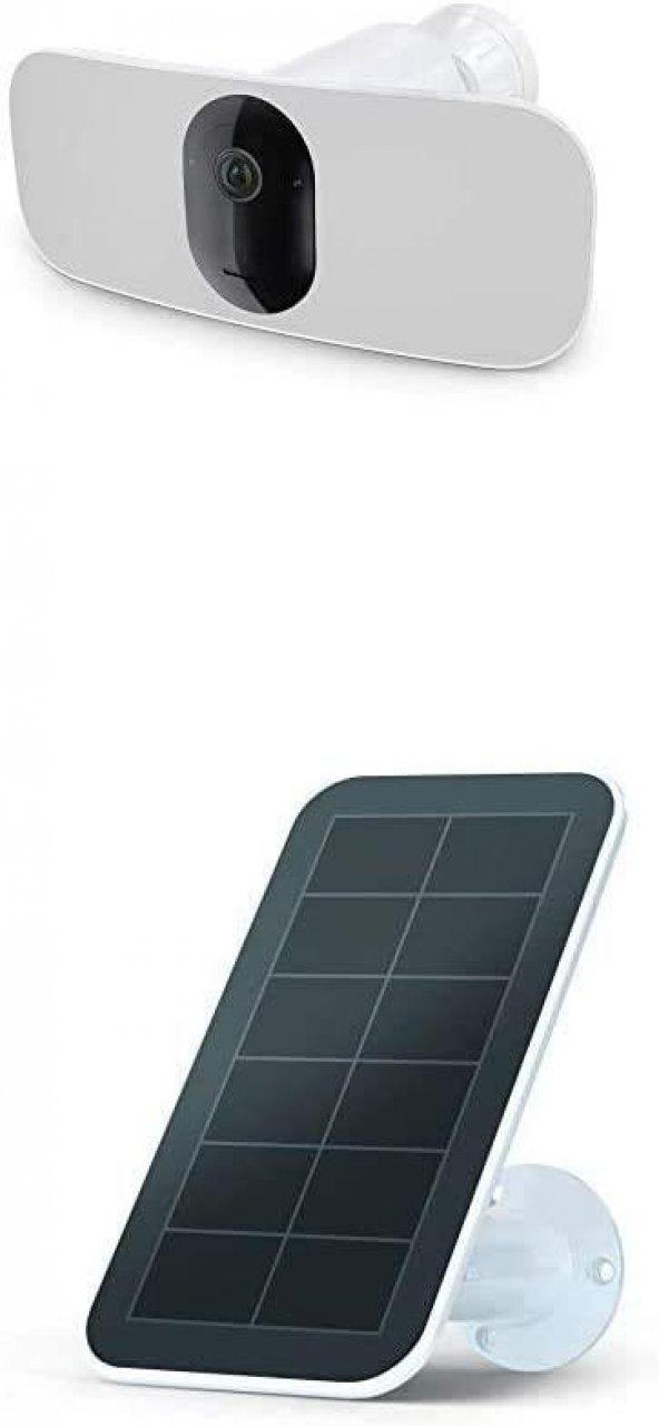 Arlo Pro 3 Floodlight Kamerası + Güneş Paneli | 2K Video ve HDR Özellikli