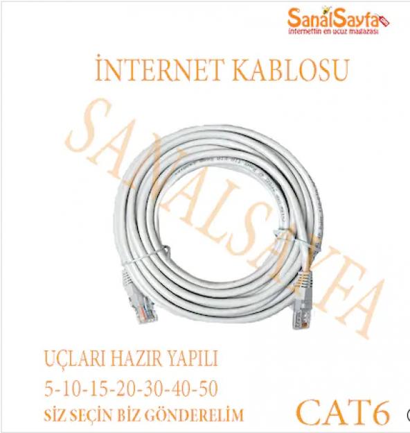 20METRE CAT6 KALIN BAKIR İNTERNET KABLO SEÇİM